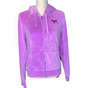 Victoria's Secret Pink Velour Purple Hoodie